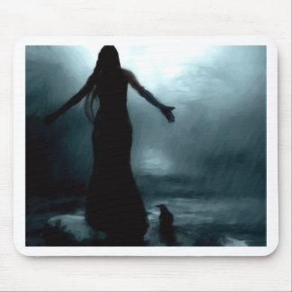 celtic goddess morrigan crow raven rain water mousemats
