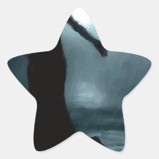 celtic goddess morrigan crow raven rain water star sticker