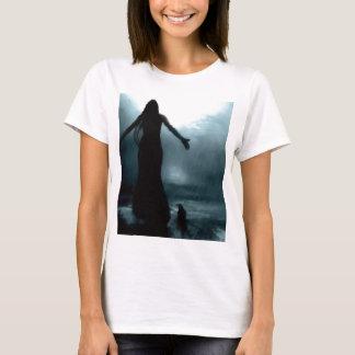 celtic goddess morrigan crow raven rain water T-Shirt