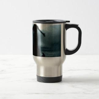 celtic goddess morrigan crow raven rain water travel mug