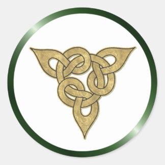Celtic Gold Classic Round Sticker
