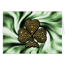 celtic gold shamrock St Patrick's day card