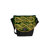 Celtic Gold Snakes on Dark Green Mini Messenger Messenger Bags at  Zazzle