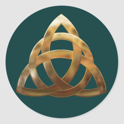Celtic Gold Trinity Knot