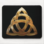 Celtic Gold Trinity Knot Mouse Pad