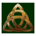 Celtic Gold Trinity Knot Poster