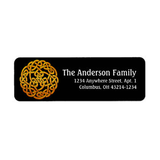 Celtic Golden D1 Irish Return Address Labels