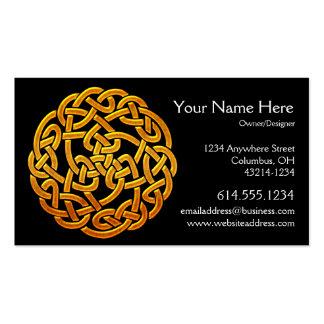 Celtic Golden D1b Irish Celtic Business Card