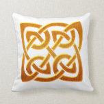 Celtic Golden D2 Irish Celtic Design Pillows