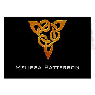 Celtic Golden D3 Elegant Personal Note Card
