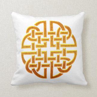 Celtic Golden D7 Irish Celtic Design Throw Pillow