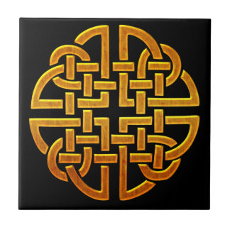 Celtic Golden D7 Irish Celtic Design Tile