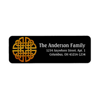 Celtic Golden D7 Irish Return Address Labels