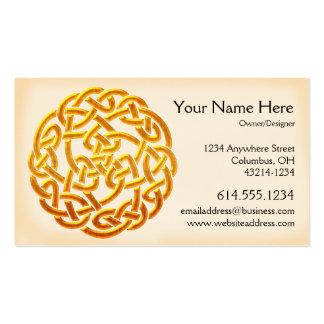 Celtic Golden Design 1 Irish Business Card