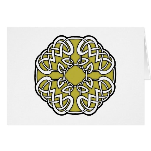 Celtic Golden Ring Card