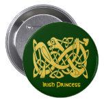 Celtic Golden Snake Green Irish Princess Pin