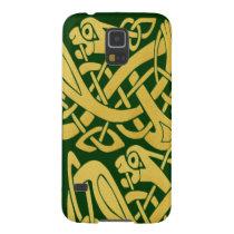 Celtic Golden Snake on Dark Green Galaxy Nexus Galaxy Nexus  Covers at Zazzle