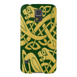 Celtic Golden Snake On Dark Green Galaxy Nexus Case For Galaxy S5 at Zazzle
