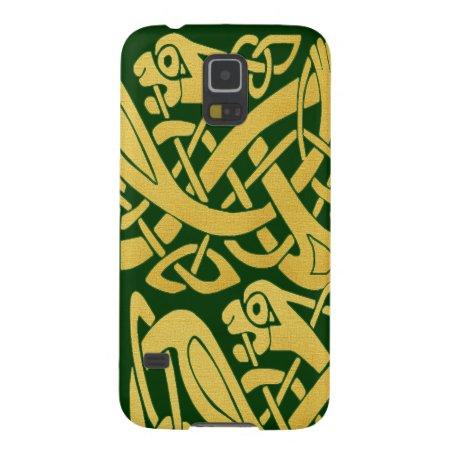 Celtic Golden Snake On Dark Green Galaxy Nexus Case For Galaxy S5