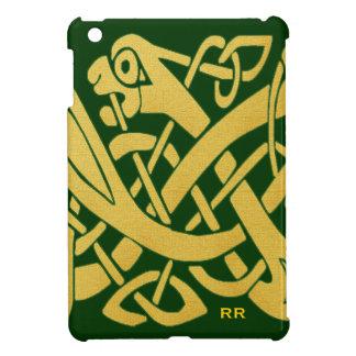 Celtic Golden Snake on Green Savvy iPad Mini Case
