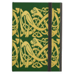 Celtic Golden Snakes Green Ipad Case W/ Kickstand at Zazzle