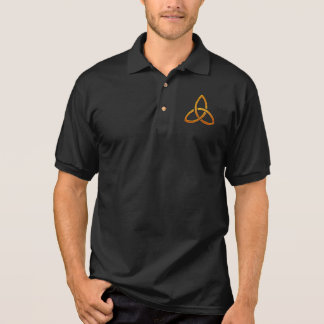 Celtic Golden Trinity Design Polo Shirt