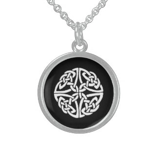 CELTIC GOOD LUCK CHARM,SYMBOL OF UNITY by ara Sterling Silver Necklace