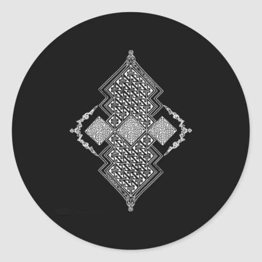 Celtic Grand Diamond Classic Round Sticker