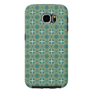 Celtic Green and Gold Shamrock Knot Samsung Galaxy S6 Case