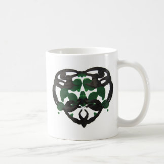 Celtic Green Inkblot Coffee Mug
