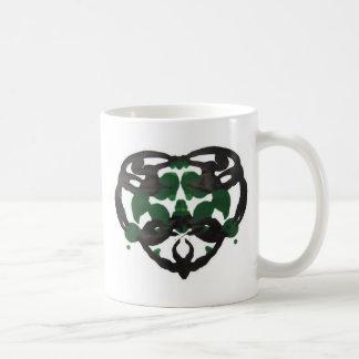 Celtic Green Inkblot Mug