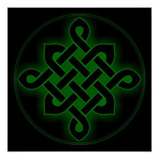 celtic green knot mystic viking symbol spiritual p poster
