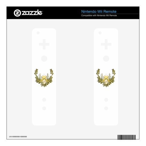 Celtic Green Lady Wreath Skins For The Wii Remote