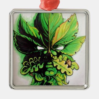 Celtic green man of the forest metal ornament