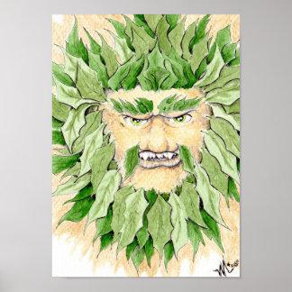 Celtic Green Man Poster
