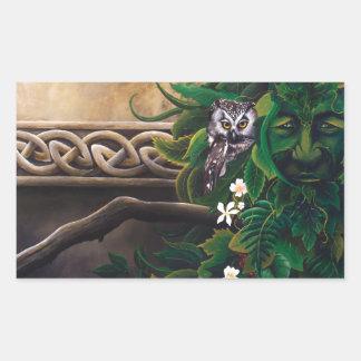 Celtic Green Man Rectangular Sticker