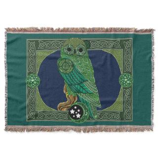 Celtic Green Owl Throw