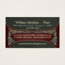 Celtic Gripping Beasts Business Cards