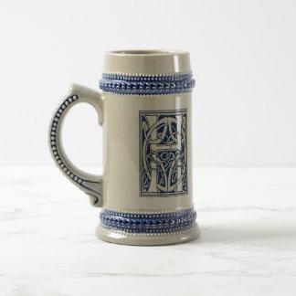 Celtic H Monogram Beer Stein