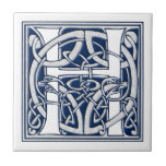 Celtic H Monogram Small Square Tile