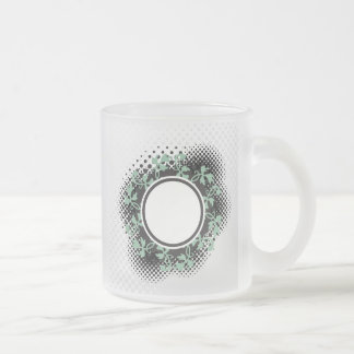 Celtic Halftone Layout Frosted Glass Coffee Mug