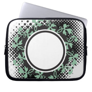 Celtic Halftone Layout Laptop Computer Sleeves