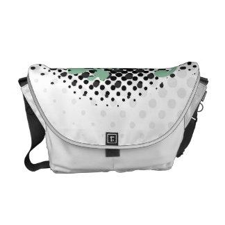 Celtic Halftone Layout Messenger Bag