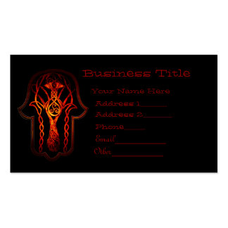 Celtic Hamsa Hand (Orange/Red) Double-Sided Standard Business Cards (Pack Of 100)