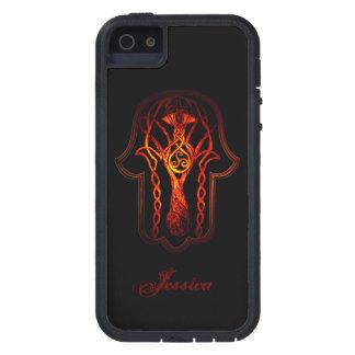 Celtic Hamsa Hand (Orange/Red) Case For iPhone SE/5/5s