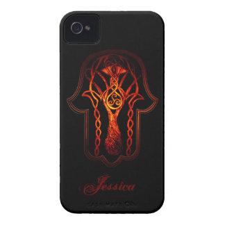 Celtic Hamsa Hand (Orange/Red) Case-Mate iPhone 4 Case