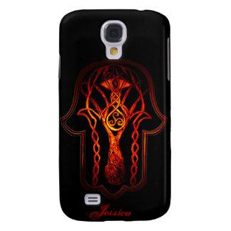 Celtic Hamsa Hand (Orange/Red) Galaxy S4 Cover