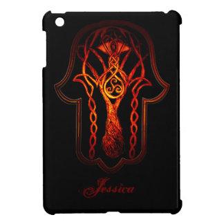 Celtic Hamsa Hand (Orange/Red) iPad Mini Cases