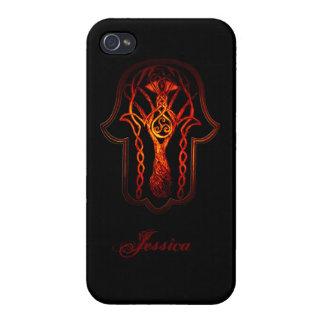 Celtic Hamsa Hand (Orange/Red) iPhone 4/4S Case