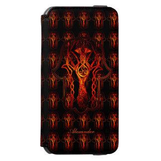 Celtic Hamsa Hand (Orange/Red) iPhone 6/6s Wallet Case